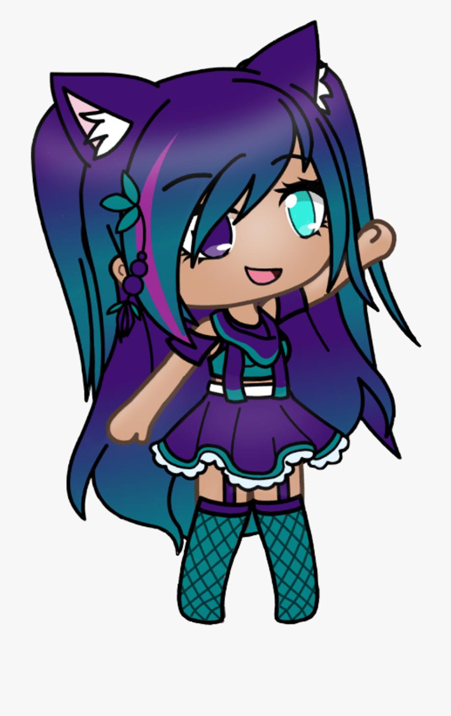 gacha gachalife gachaverse purple teal galaxy   Galaxy Girl 920x1460