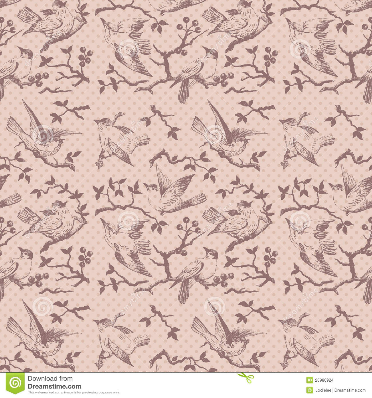Vintage Bird Wallpaper Pattern Vintage bird seamless 1300x1390