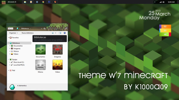 Free download Minecraft Desktop Themes Windows 8 Themes