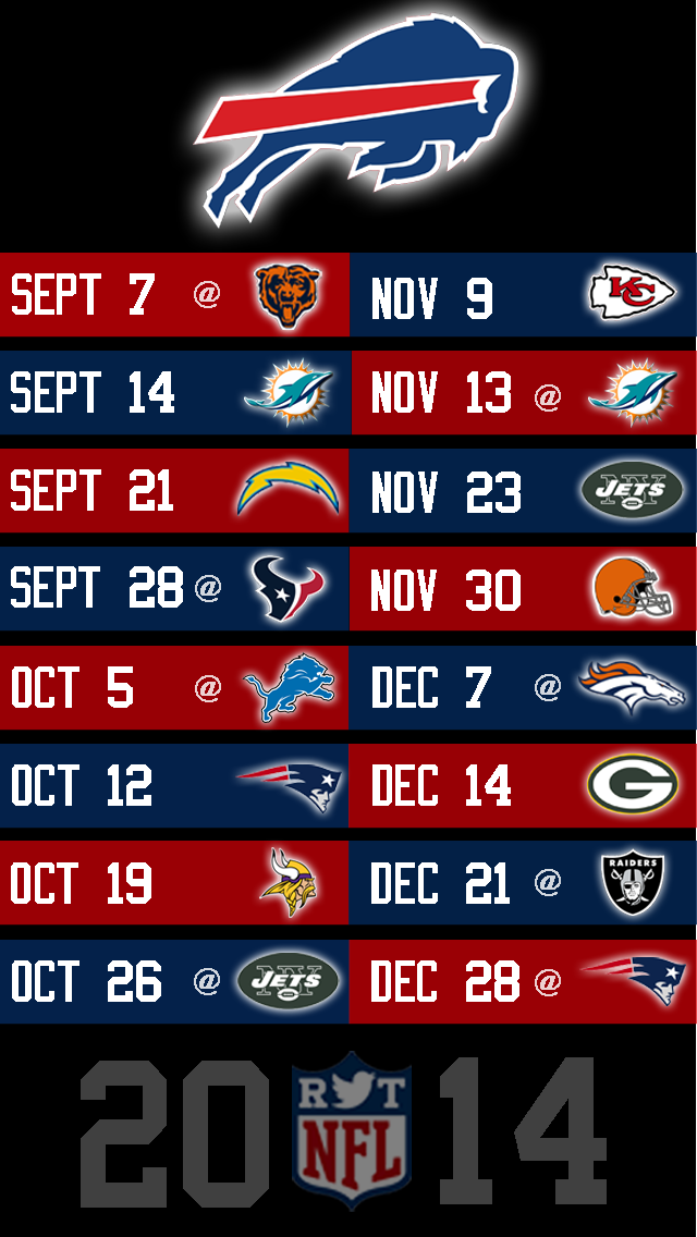 This is a photo of Modest Buffalo Bills Printable Schedule
