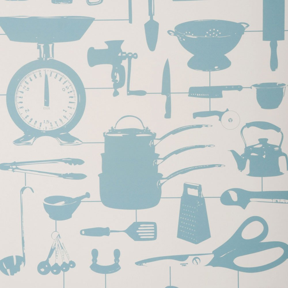 Home HOMEWARE Wallpaper Airfix Kitchen Wallpaper Duck Egg 1000x1000