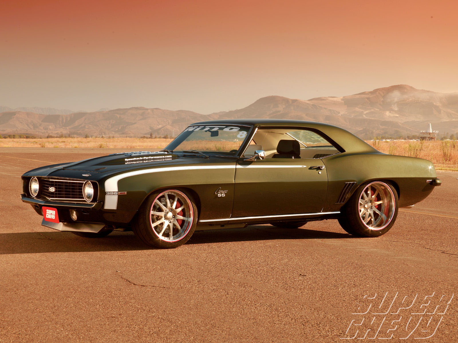 1969 Chevy Camaro Ss Side View 1600x1200