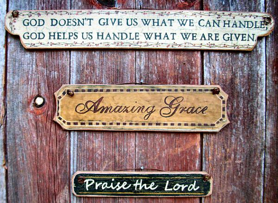 Inspirational Plaques Amazing Grace Praise The Lord God Helps 570x417
