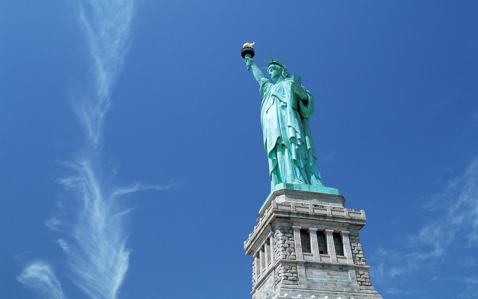 Statue of Liberty Vrijheidsbeeld in New York HD steden wallpaper 1600x1000