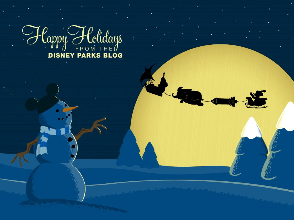 For the Holidays with Disney Parks Wallpaper Disney Parks Blog 1024x768