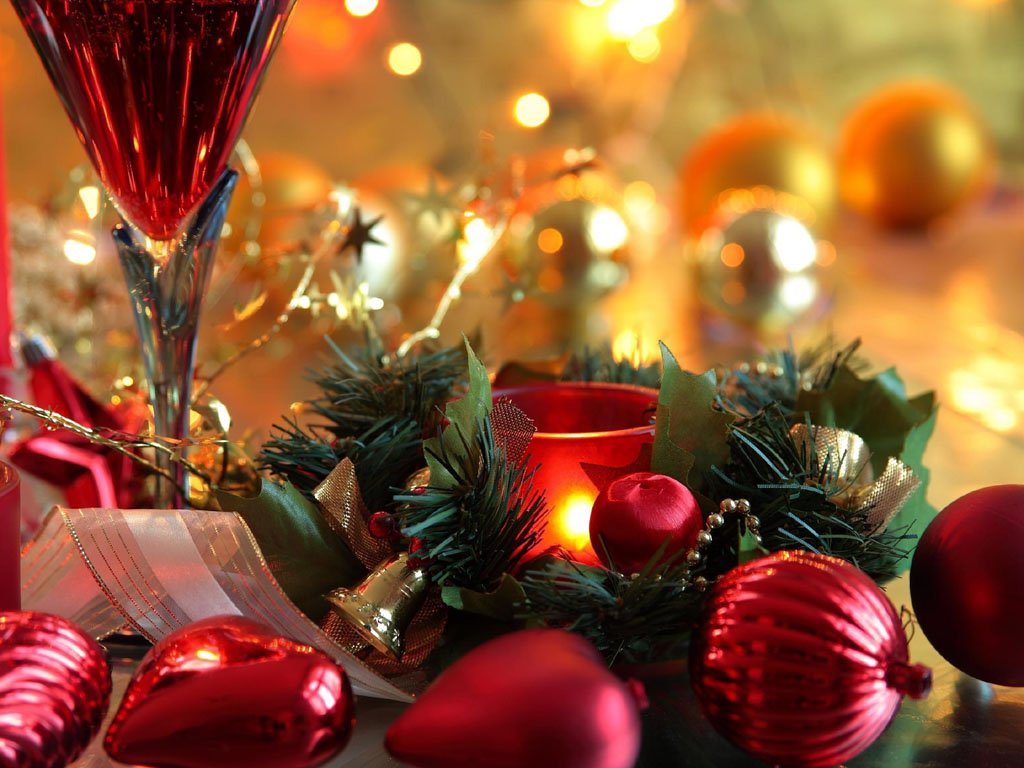 wallpapers Christmas New Year Decorations 1024x768