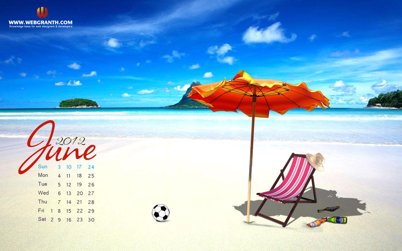 June Calendar Wallpaper 2012 Download Summer HD Wallpaper 1280x800