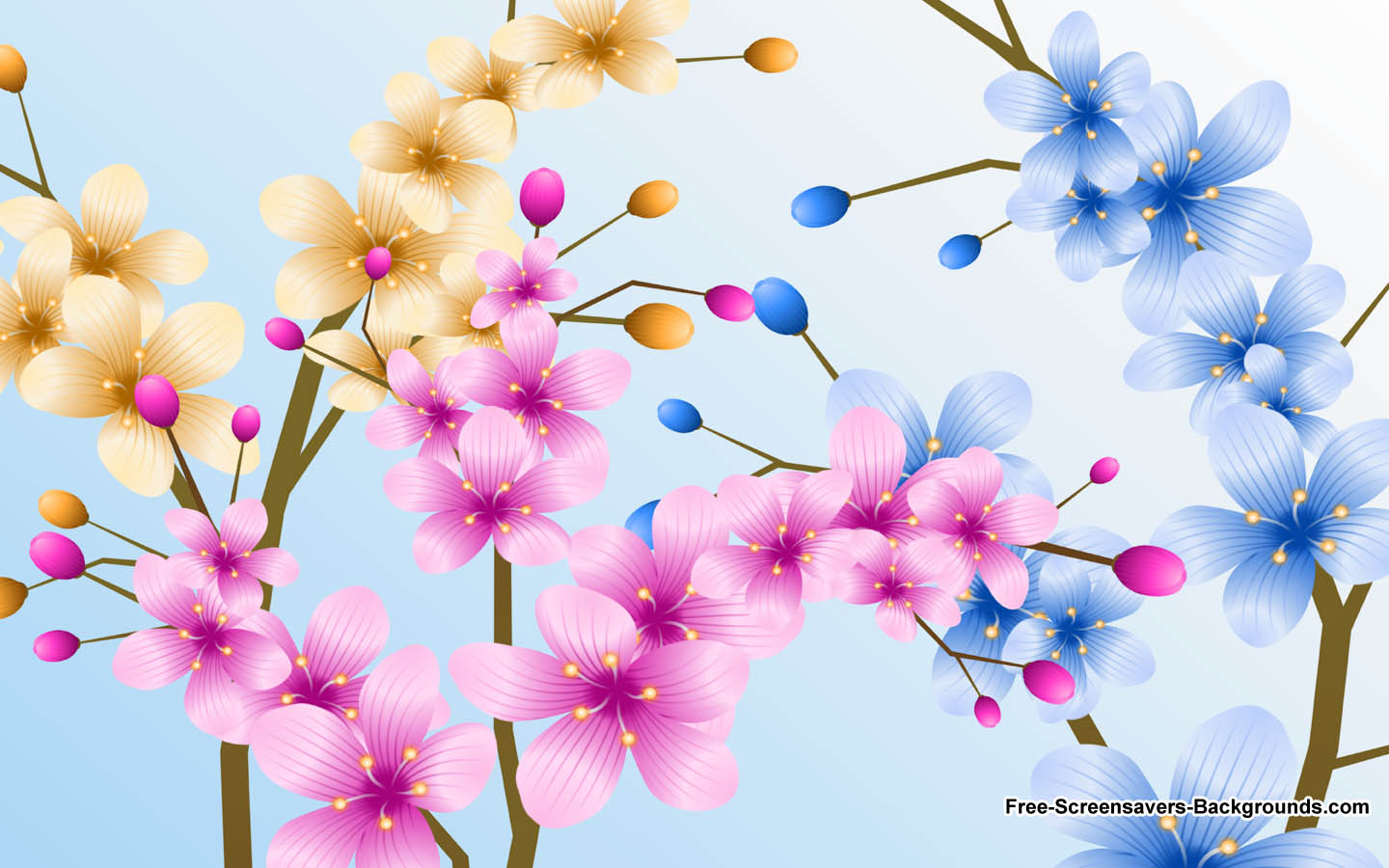 Mixed Flowers in a Pot Wallpaper   Screensavers and Backgrounds 1440x900