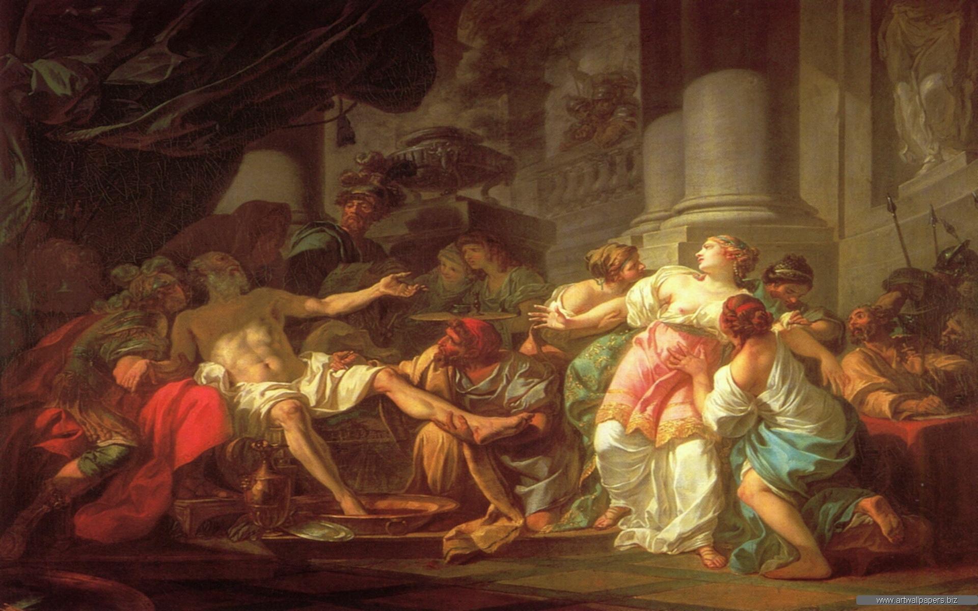 Classic art wallpapers for desktop wallpapersafari for Classical mural