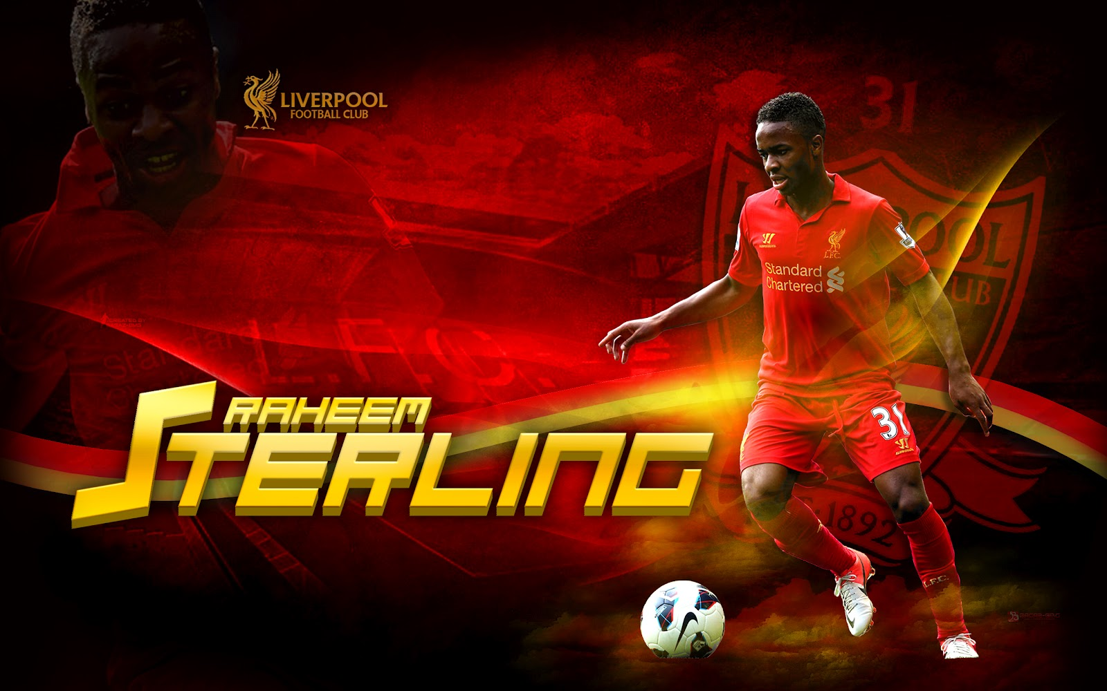 Sterling Liverpool Wallpaper HD 2013 Football Wallpaper HD Football 1600x1000