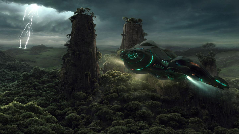 Spaceship Wallpaper image   Dark ForceScience FictionFan 1440x810