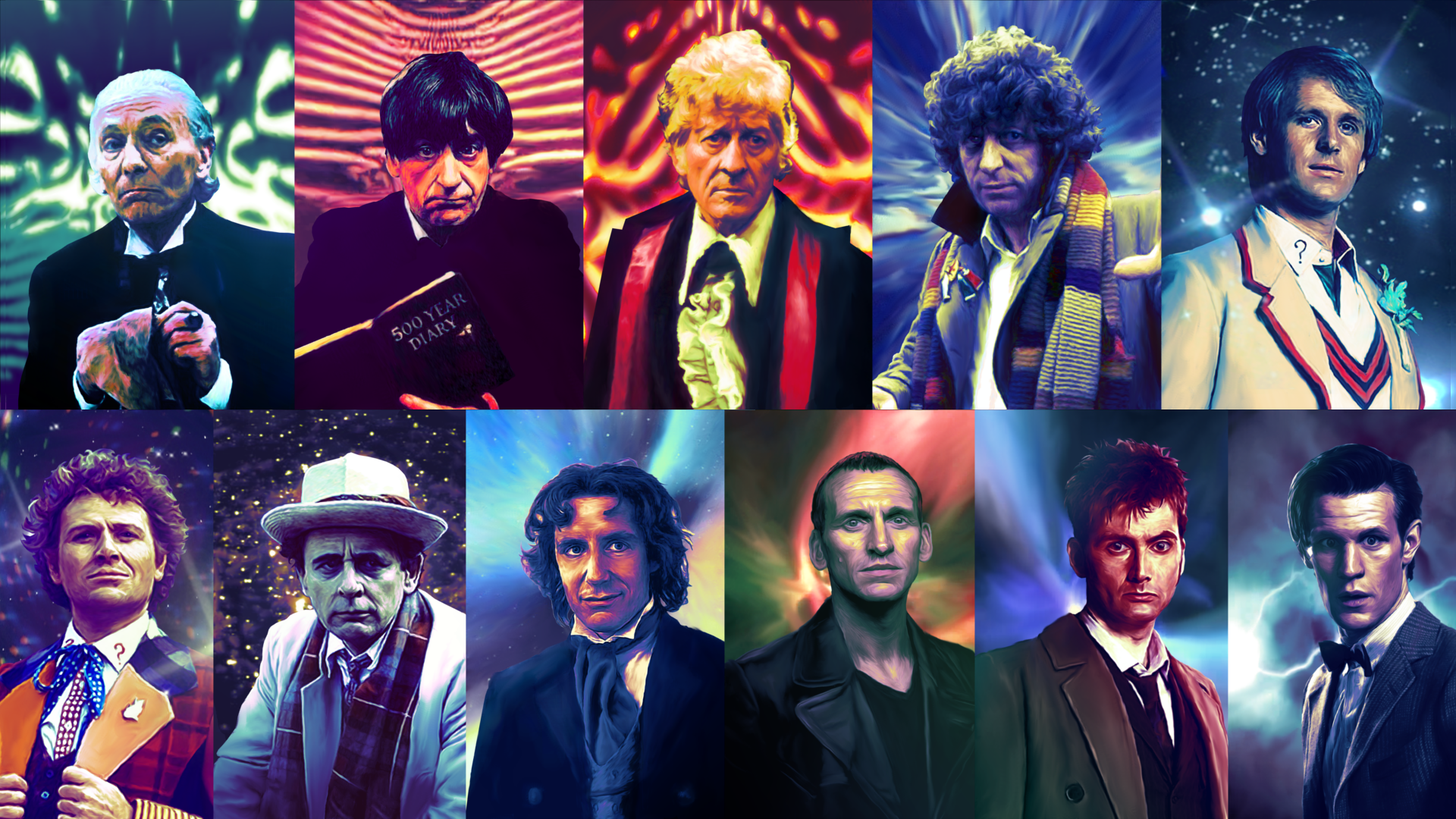 Doctor Who All Doctors Wallpaper - WallpaperSafari  All