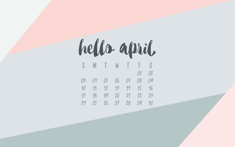 April 2016 Desktop Calendar Wallpaper UpperCase Designs 2880x1800