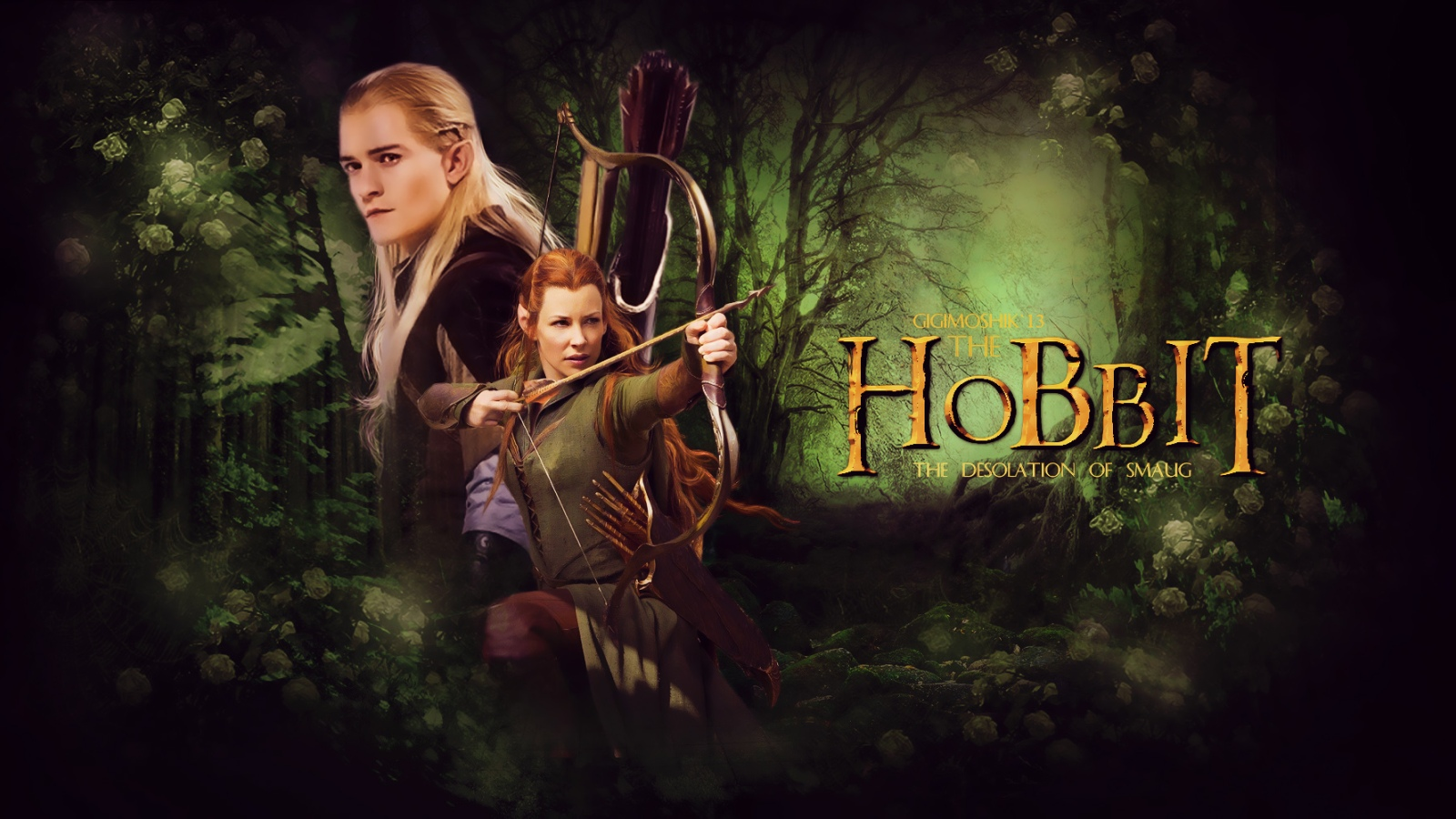 Legolas and Tauriel   Legolas and Tauriel Wallpaper 35874336 1600x900