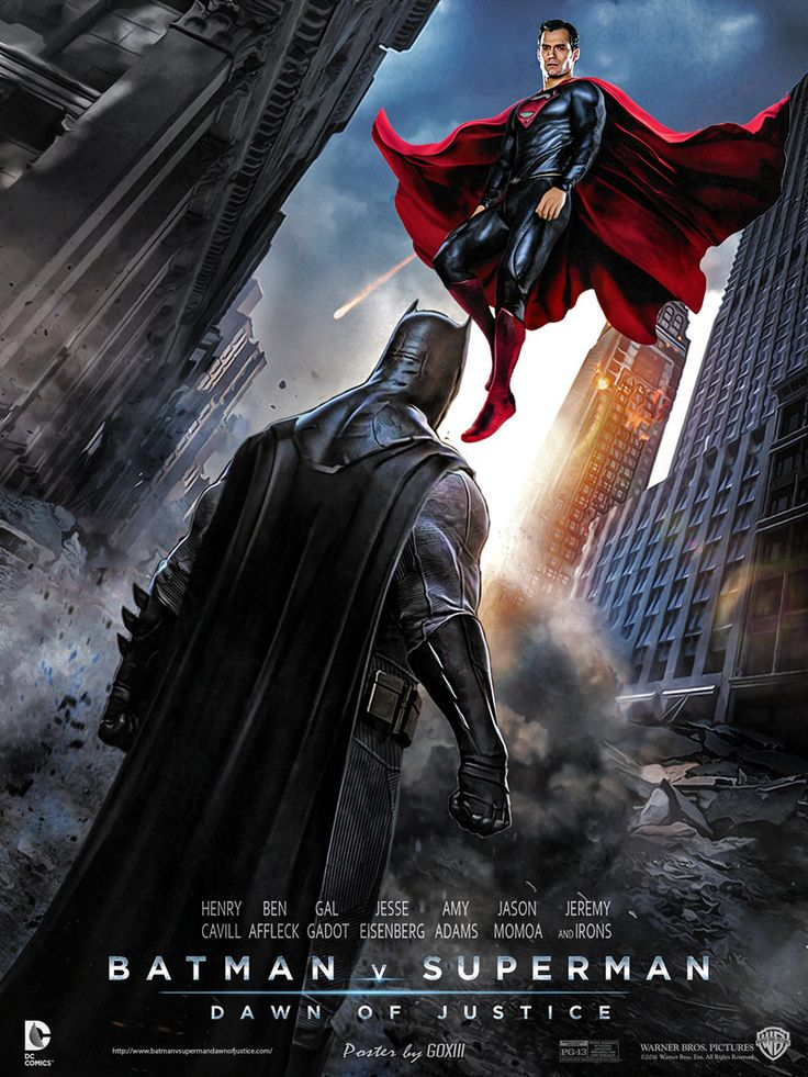 MOVIE TRAILERS  images Batman vs Superman Dawn Of Justice Poster 736x981