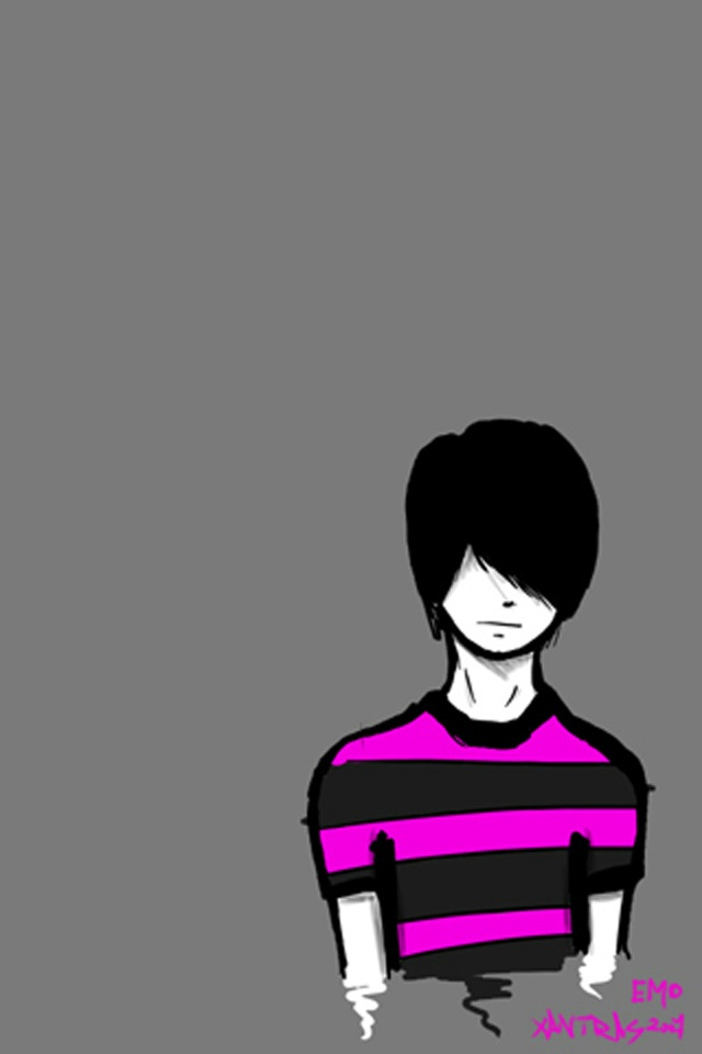 EMO Boy iPhone 4 Wallpaper and iPhone 4S Wallpaper 640x960