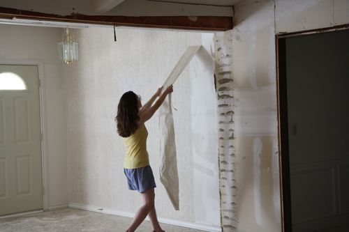 Removing wallpaper 500x333