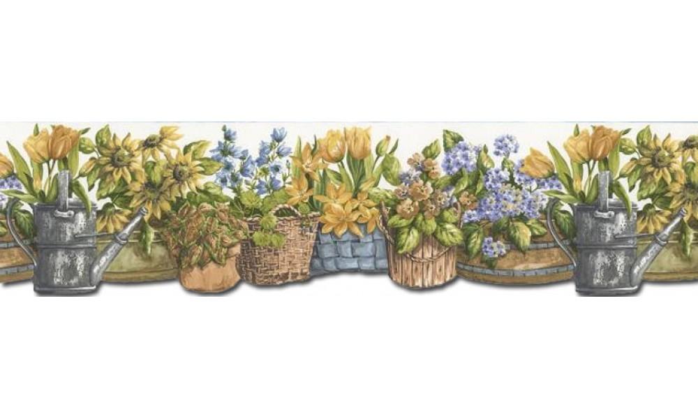 Home Garden Wallpaper Border KL76986DC 1000x600