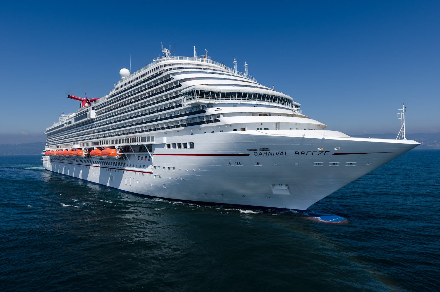 Carnival Cruise Lines Takes Delivery of New Carnival Breeze 1500x994