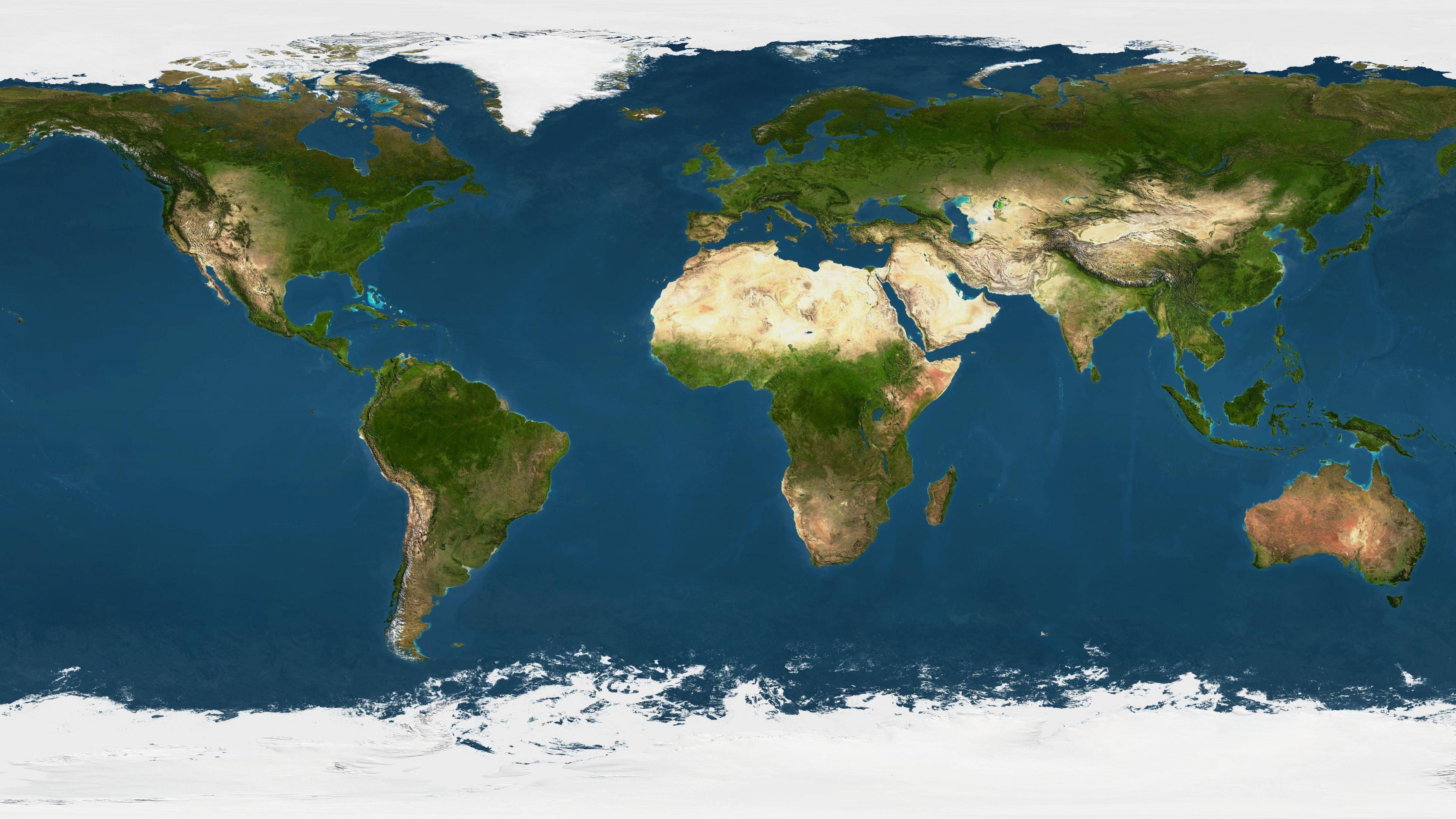 [74+] World Map Wallpaper High Resolution on WallpaperSafari