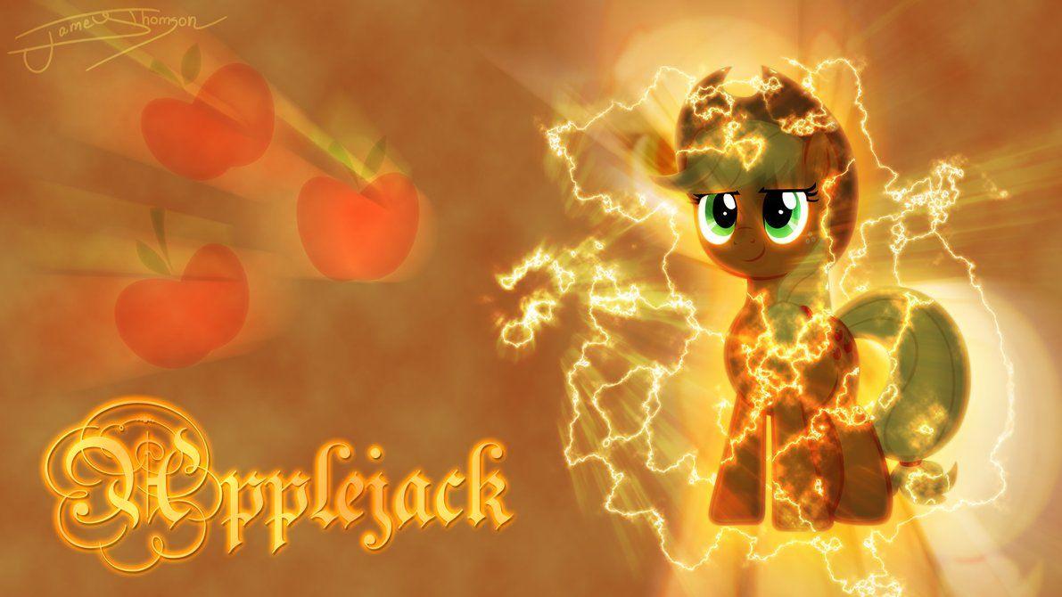 Applejack Lightning Background by Jamey4 MLP 1191x670