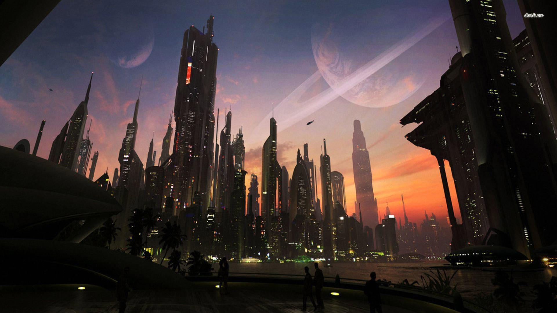 HD Future Cityscape Wallpaper