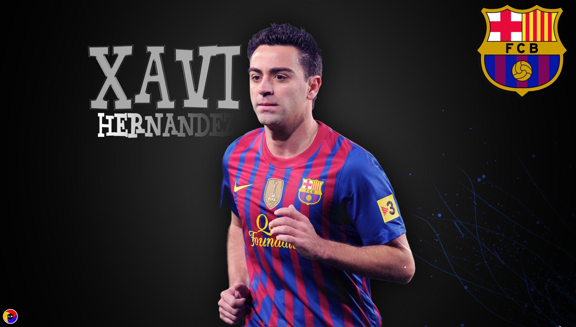 Wallpaper Xavi Hernandez FCB 1900x1080