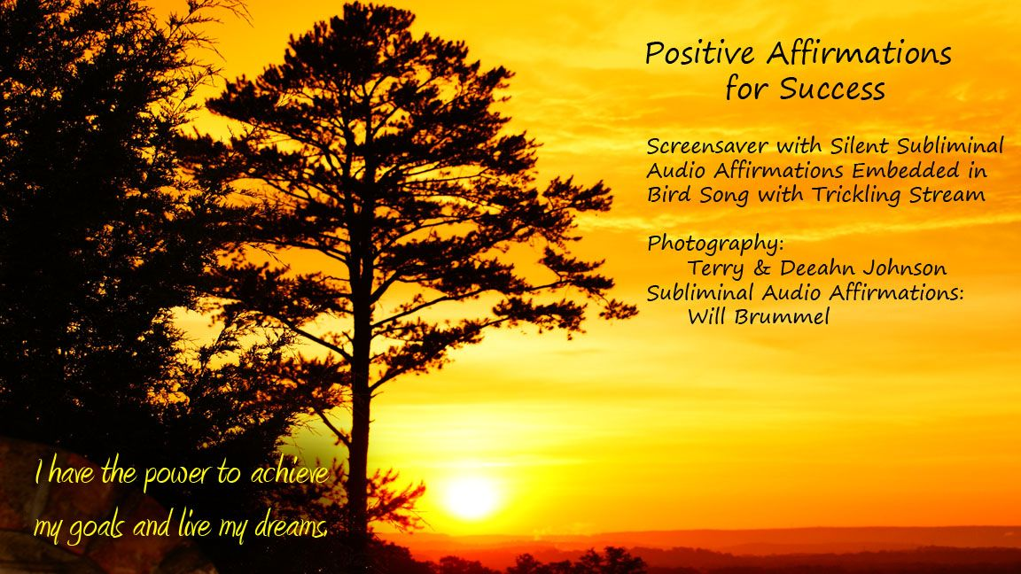 for Success Products Positive Affirmations for Success Screensaver 1152x648