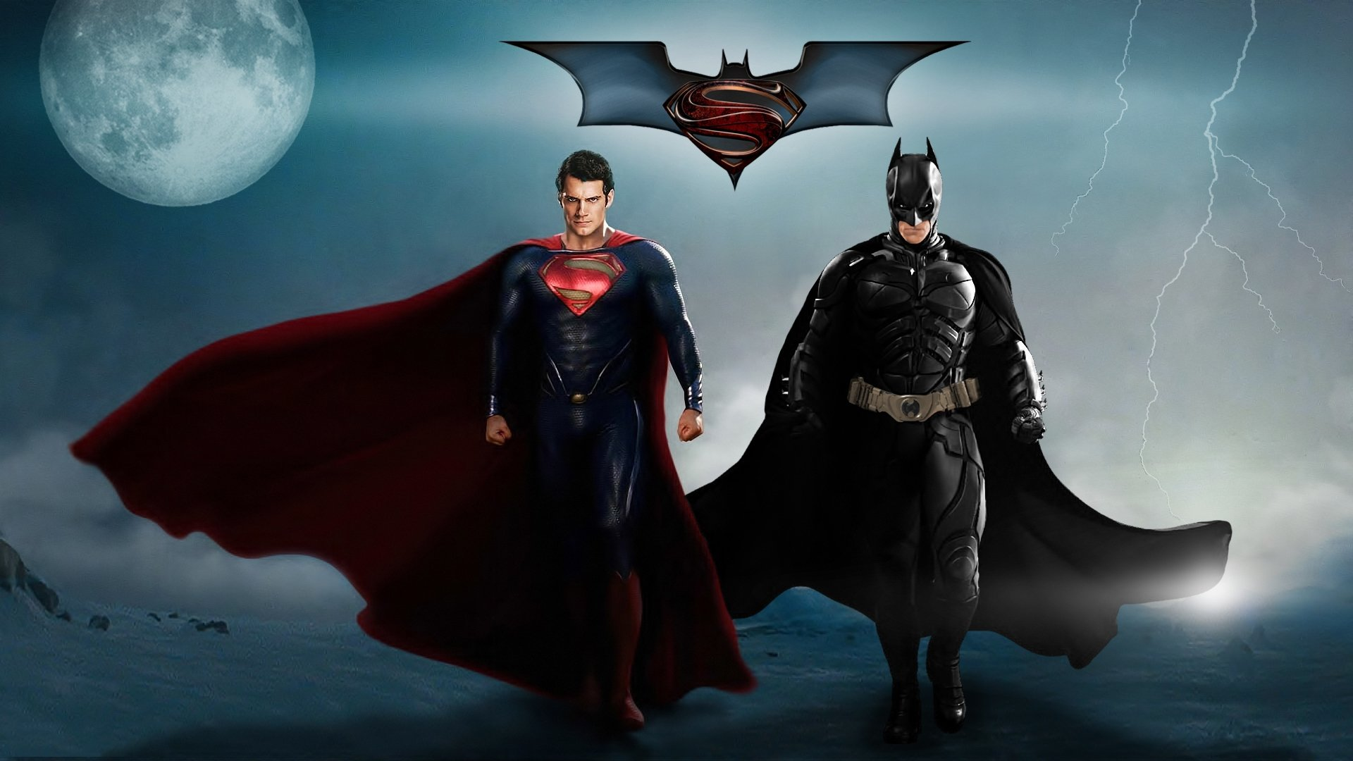 BATMAN V SUPERMAN Adventure Action Dc Comics D C Superman Batman Dark 1920x1080