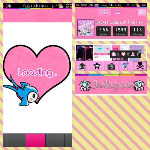 Pink Tokidoki Instagram Theme 500x500
