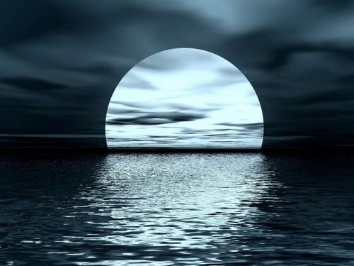 Related Pictures moon over water wallpaper moon over water desktop 500x375
