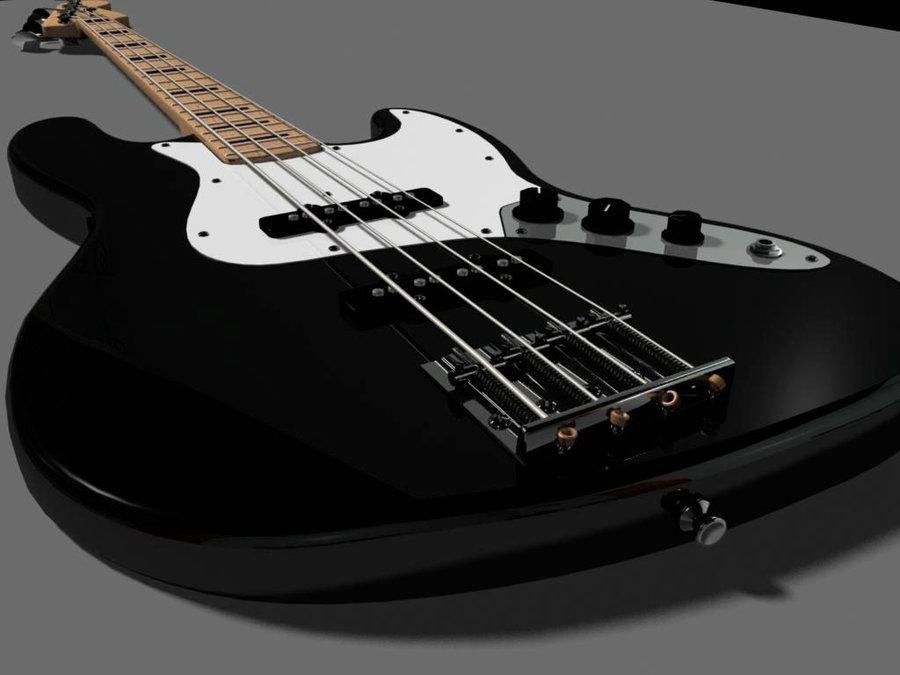 Fender Bass Guitar Wallpaper Fender jazz bass 3d model by 900x675