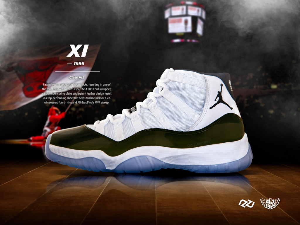 Bulls Dynasty poster for Air Jordan XI Concord Retro by ZJ DESIGN 1024x768