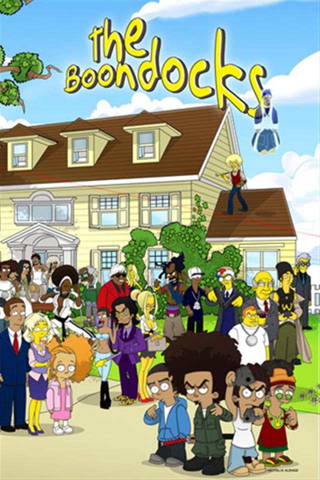 The Boondocks Simpsons Style HD iPhone Wallpapers iPhone 5s4s3G 640x960