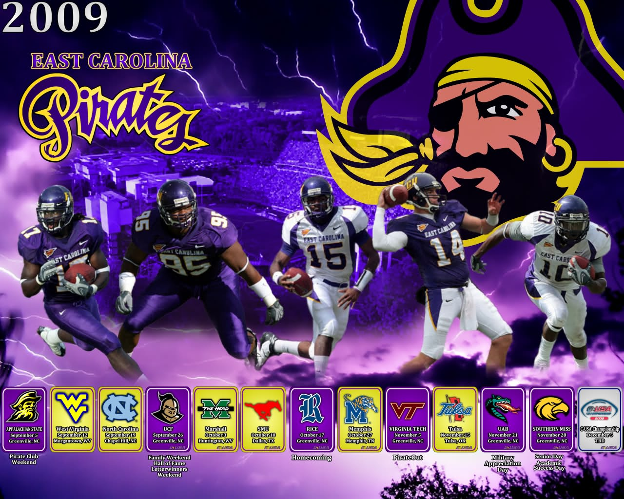 Ecu Pirates Wallpaper 1280x1024