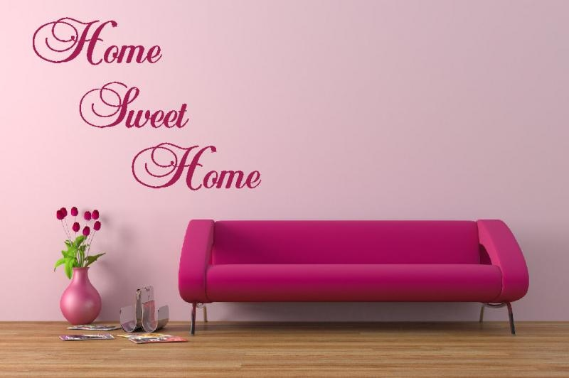 Home sweet home wall sticker 800x532