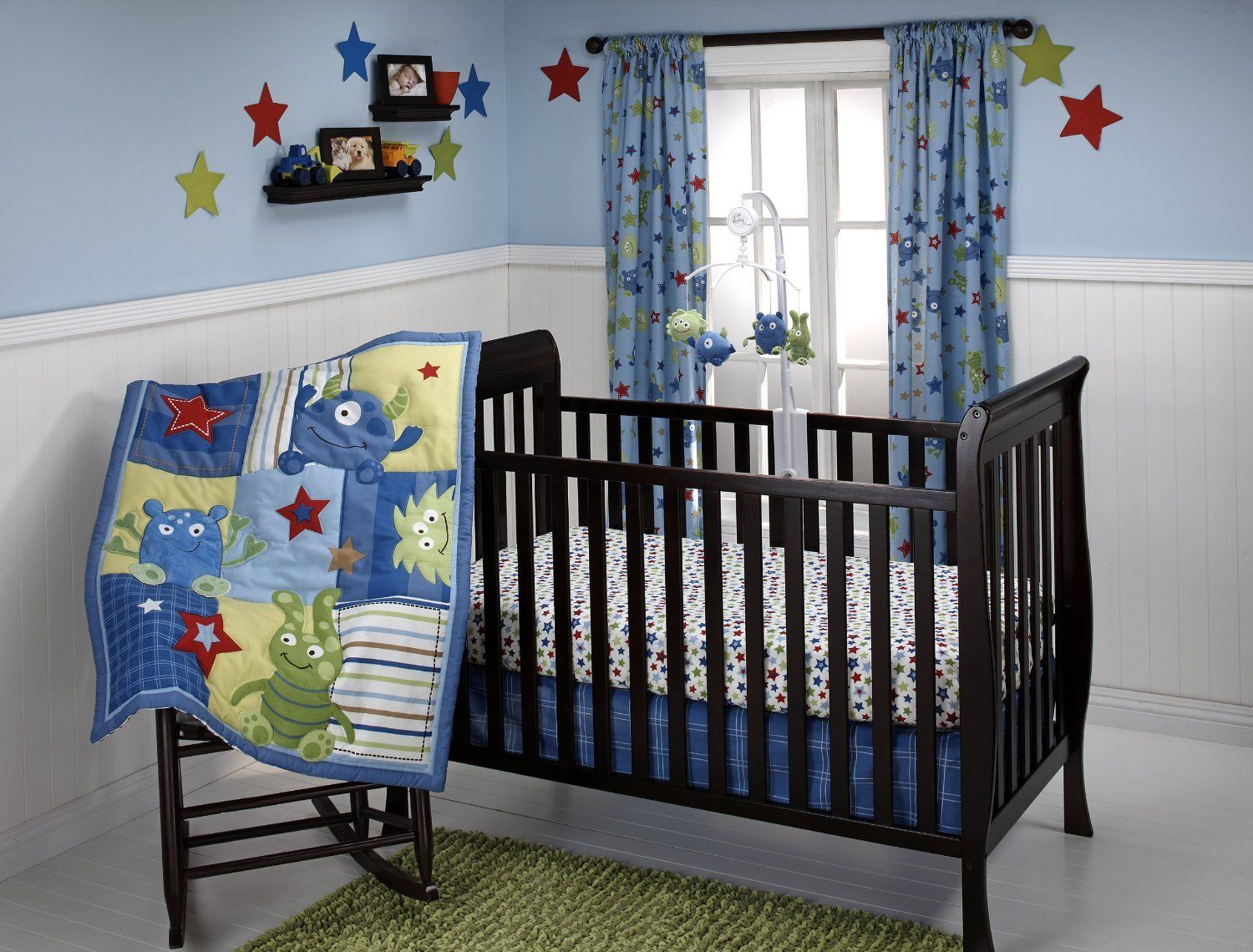 Baby boy nursery wallpaper wallpapersafari for Baby room wallpaper