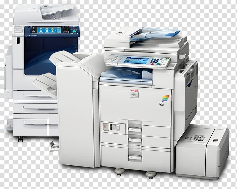 Copier Ricoh Multi function printer Printing printer transparent 800x638