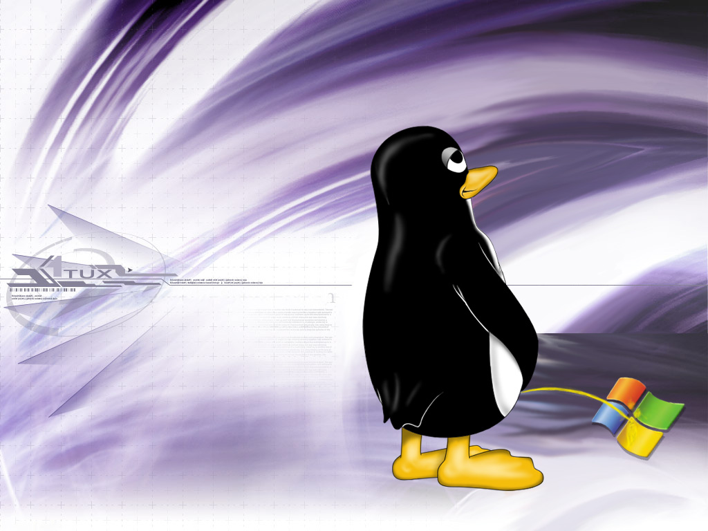 Linux vs Windows in wallpapers BLOG 1024x768