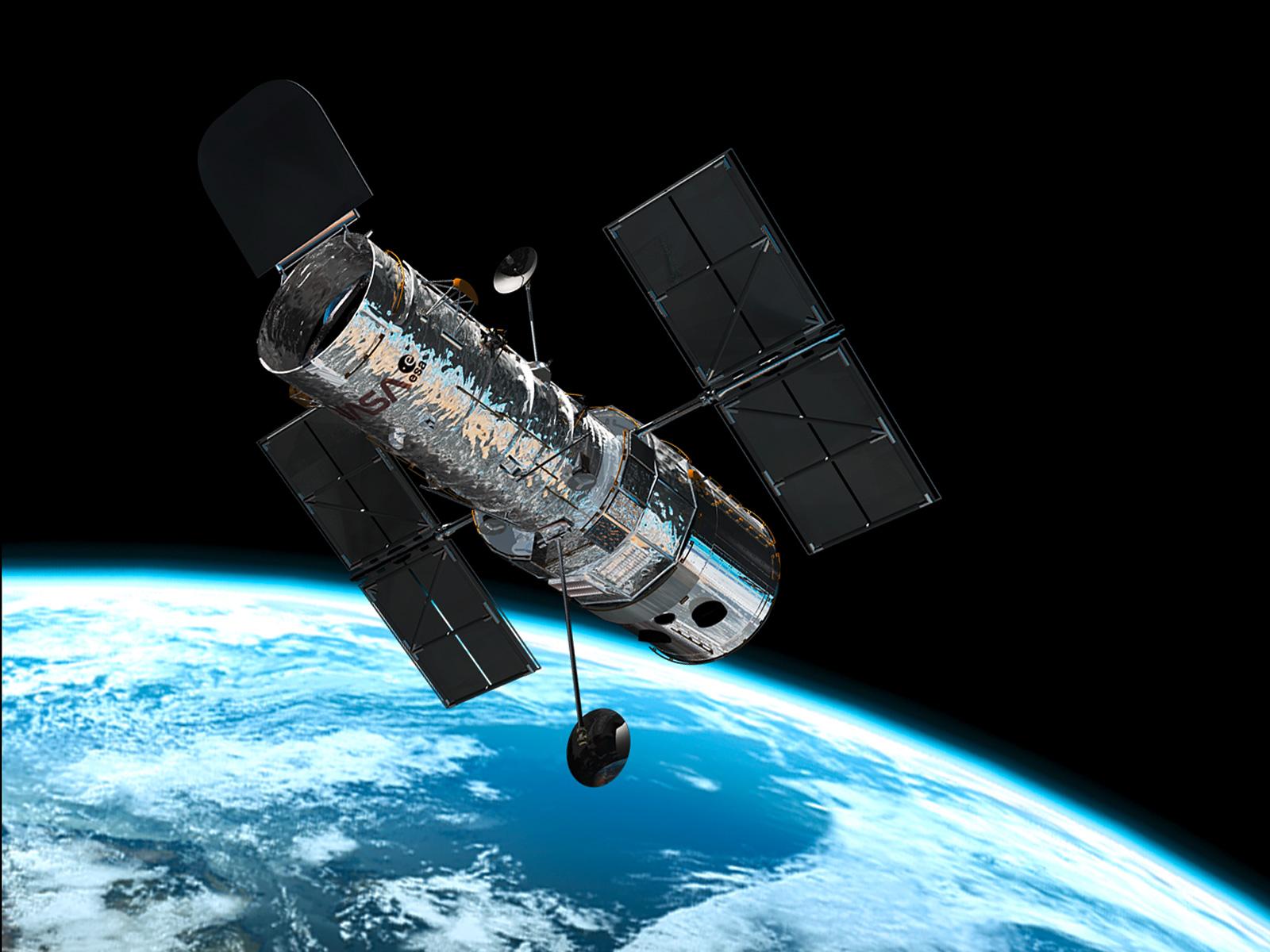 Hubble in orbit ESAHubble 1600x1200