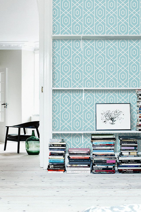 Self adhesive vinyl temporary removable wallpaper wall decal 570x856