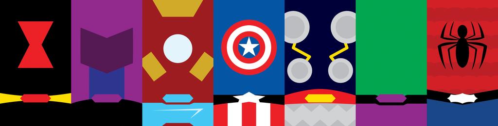 Marvel Heroes Phone Background by UrLogicFails 1024x260