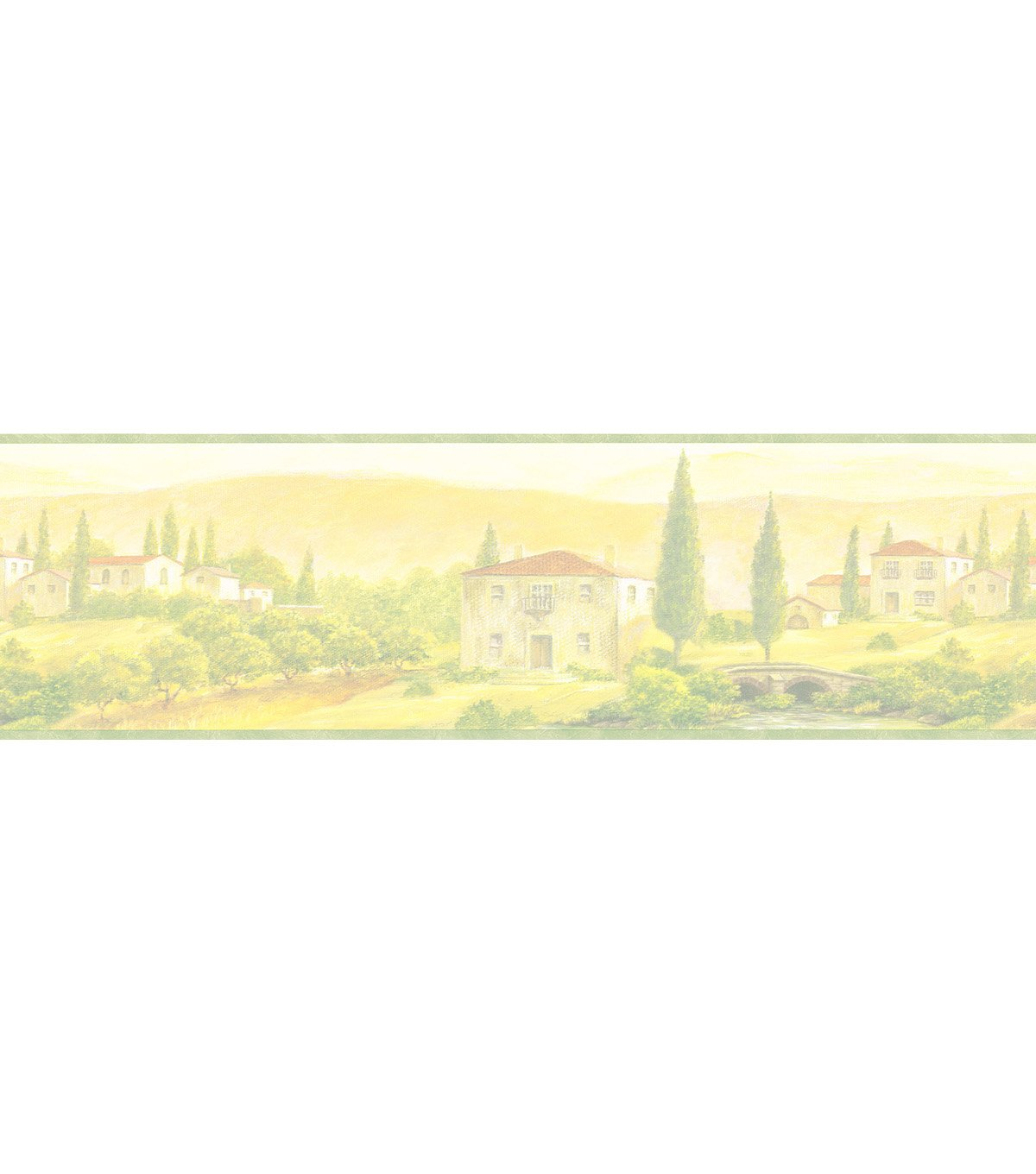 Scenic Tuscany Wallpaper Border Multicolor SampleScenic Tuscany 1200x1360
