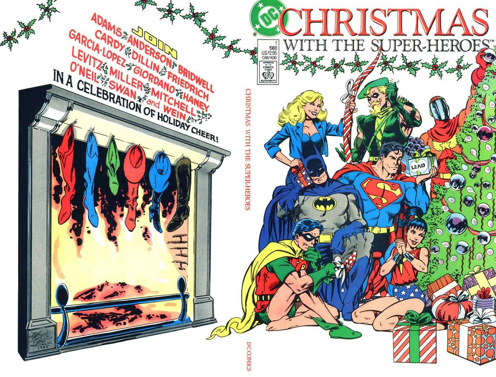 Christmas themed comic book with superheroes It is published by DC 1600x1218