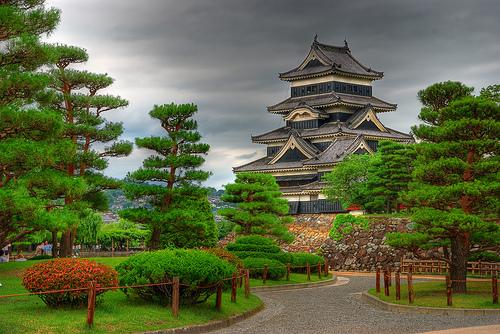 beautiful building clouds japan nature   image 170687 on Favim 500x334