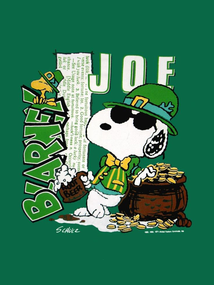 download Snoopy St Patricks Day Wallpaper Joe blarney st 736x981