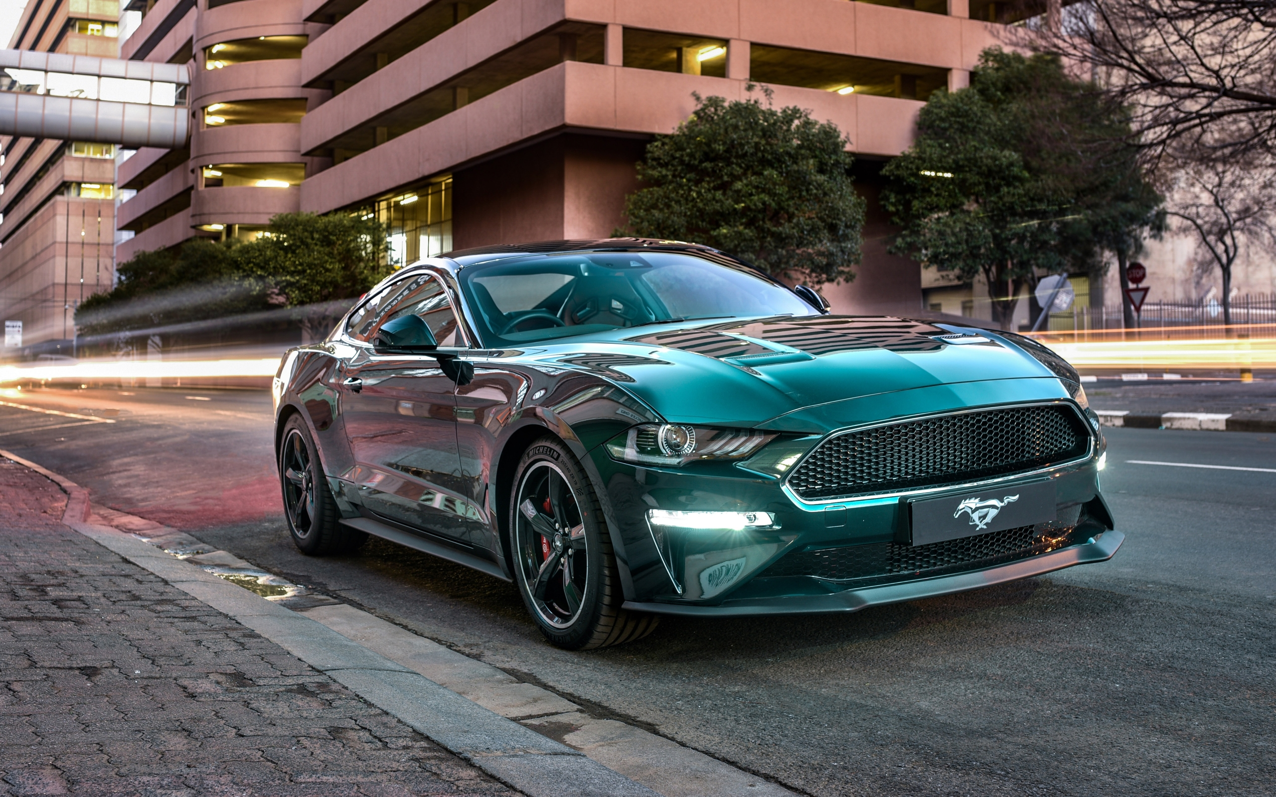 Wallpaper of Car Ford Mustang Ford Mustang Bullitt Green 2560x1600