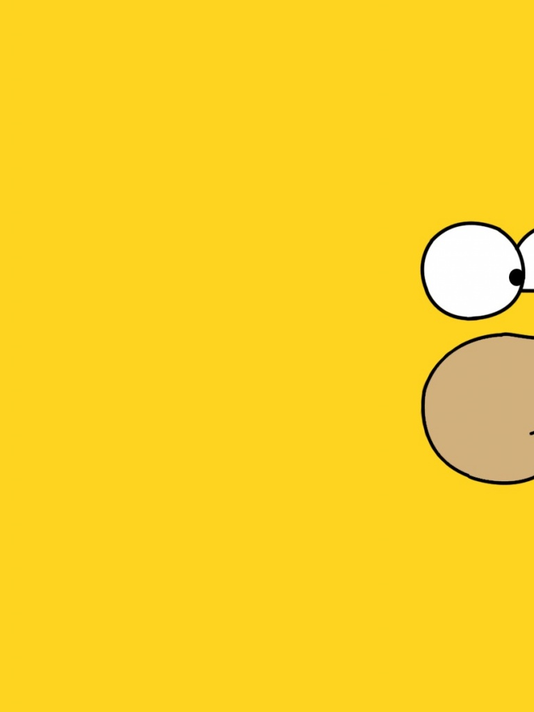 768x1024 Homer Simpson Ipad mini wallpaper 768x1024