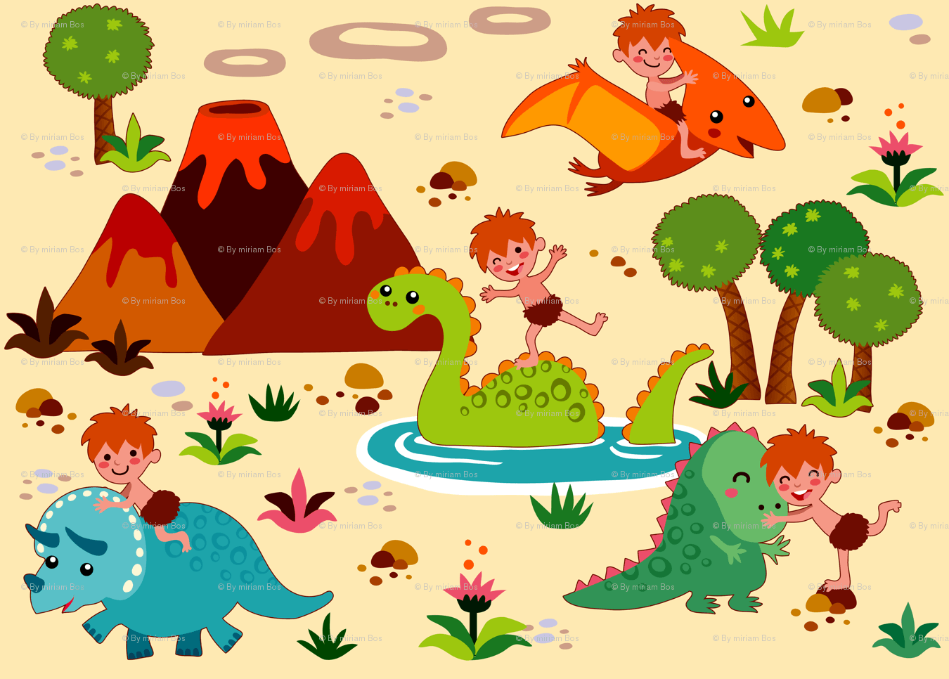 Cute Dinosaur Backgrounds 1350x966