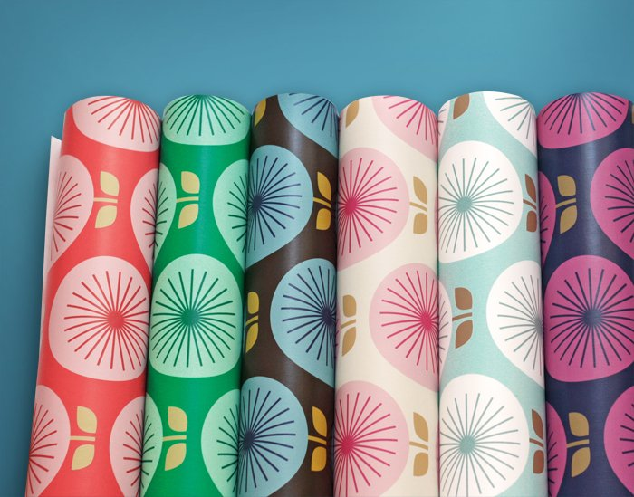 Removable wallpaper from Chasing Paper How About Orange 700x549
